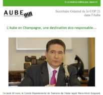 Communiqué de presse – Mars 2015 – COP21