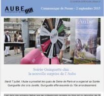 Communiqué de presse – Septembre 2015 – Workshop Guinguette